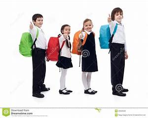 Back To School Concept With Happy Kids Giving Thumbs Up ...