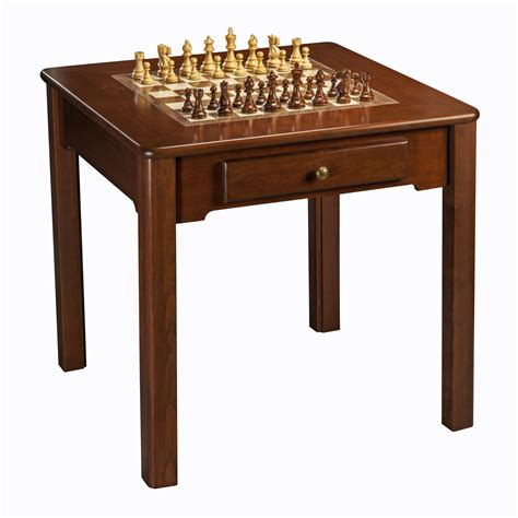 Classic Game Table, Solid Cherry Wood
