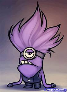 purple minion | How to Draw an Evil Minion, Despicable Me ...