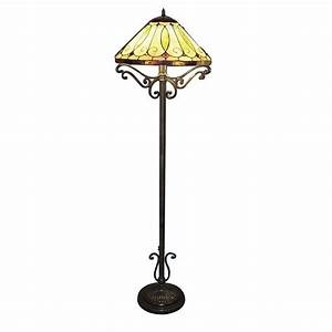 Serena d39italia tiffany arroyo styled 60 in bronze floor for Tiffany style arroyo floor lamp