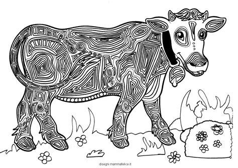 immagini di animali mandala da colorare mandala da colorare per bambini la mucca disegni