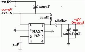 max756 25v 35v to 5v step up dc dc converter circuit With dc converter circuit 12 volt dc converter step up dc converter circuit