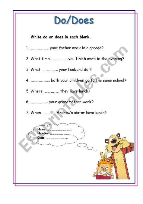 English Worksheets Dodoes