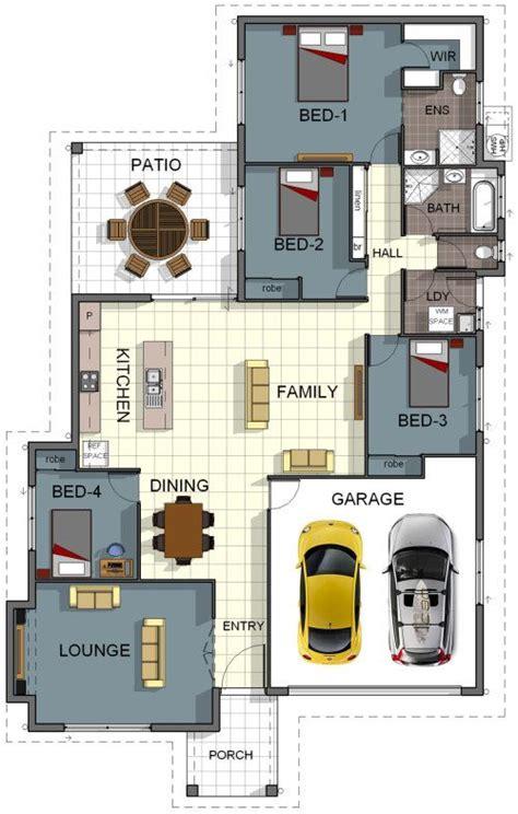floor plan house design  bedroom  bathroom double