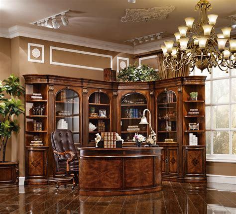 executive desk antique cognac finish