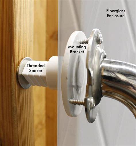 grab bar mounting kit solid mount fiberglass showers