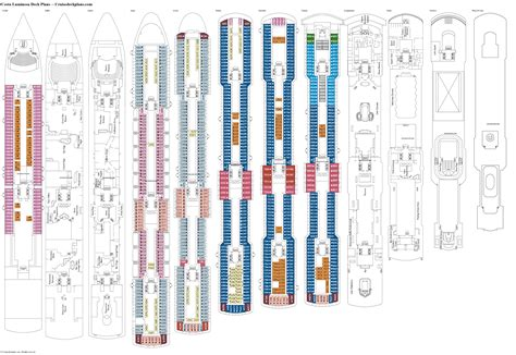 luminosa costa cruises deck plan pictures to pin on