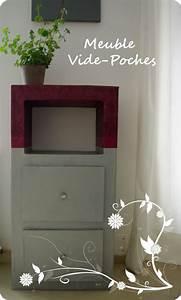 Meuble Vide Poche : meuble vide poches fleur de carton ~ Teatrodelosmanantiales.com Idées de Décoration