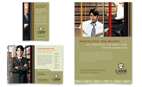 lawyer law firm flyer ad template word publisher