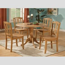 5pc Round Dinette Kitchen Dining Set Table And 4 Chairs  Ebay