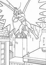 Coloring Roof Batman sketch template