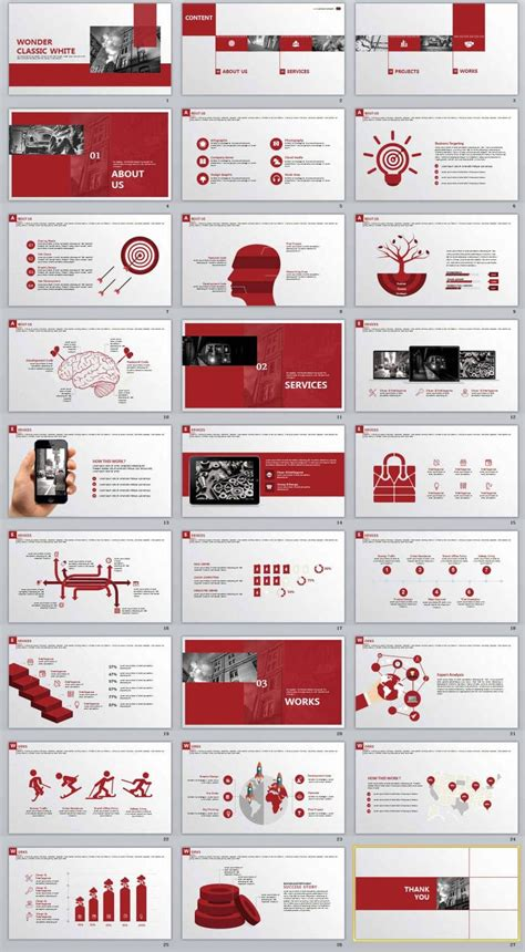 red business purple annual report powerpoint
