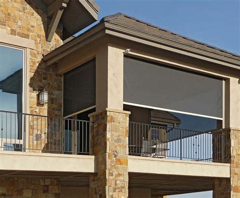 patio roller shades insolroll solar screens and shades k to z window coverings