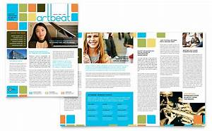 Product Pamphlets Arts Council Education Newsletter Template Design
