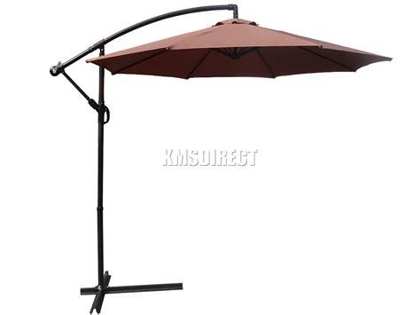 foxhunter 3m outdoor parasol sun shade patio banana