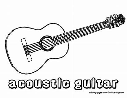 Guitar Coloring Pages Printables Acoustic Guitars Musical