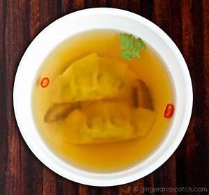 Golden Chicken Consomme  With Chicken Cilantro Gyoza
