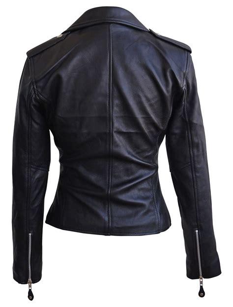 motorcycle style leather jacket victoria beckham style womens black biker motorcycle