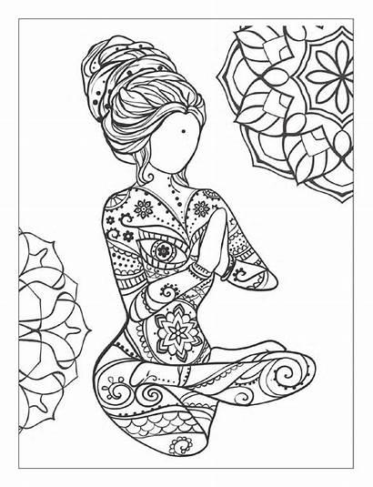 Mindfulness Coloring Pages Meditation Yoga Adult Mandala