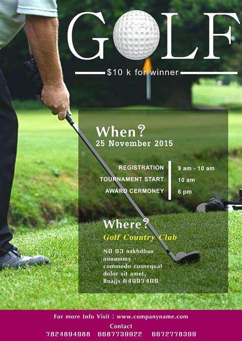 golf tournament flyer templates fundraiser