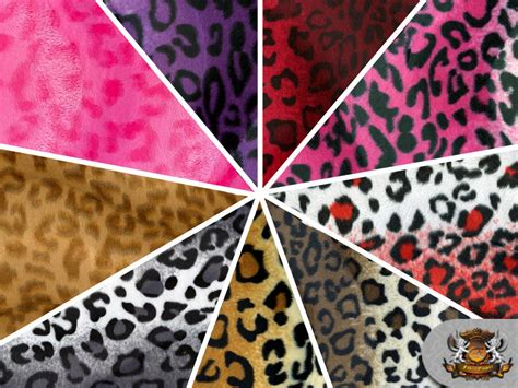 Animal Print Upholstery Fabric By The Yard by Leopard Velboa Faux Fur Fabric Animal Print 60 Quot W Sold