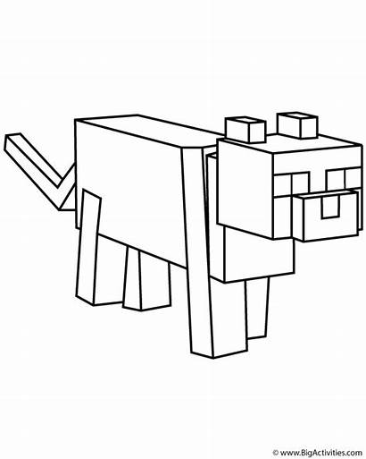 Minecraft Coloring Pages Ocelot Colouring Mobs Printable