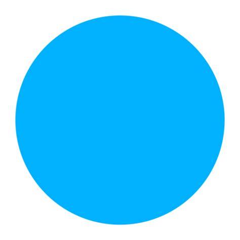 Círculo Azul Grande Emoji