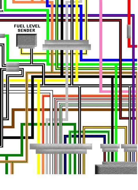 suzuki gs1000g lt 1980 usa spec colour wiring harness diagram