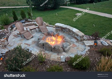 Awesome Custom Fire Pit Stock Photo 86102989