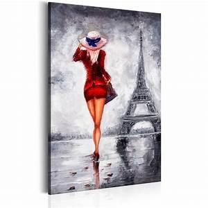 Mein Foto Xxl : leinwand bilder xxl kunstdruck bild frau paris rot kleid h b 0062 b a ebay ~ Orissabook.com Haus und Dekorationen