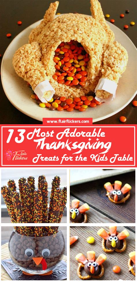 Thanksgiving desserts you'll be dreaming about until spring. 13 Most Adorable Thanksgiving Treats for the Kids Table