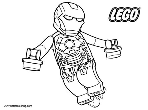 iron man  lego superhero coloring pages