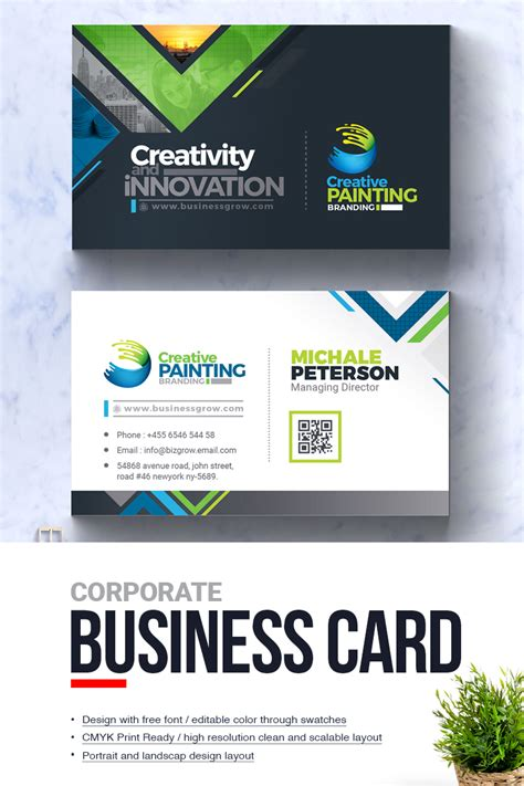 creative painting business card corporate identity