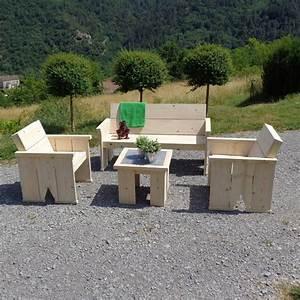 Salon De Jardin En Bois : salon jardin bois bricolage maison et d coration ~ Dailycaller-alerts.com Idées de Décoration