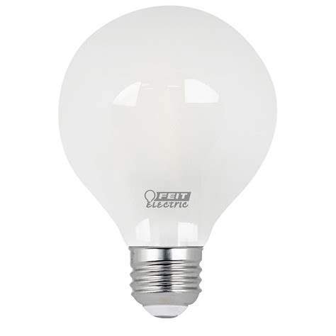feit electric 40w equivalent daylight g25 dimmable frosted
