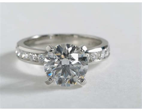 channel engagement ring in platinum 1 2 ct tw blue nile