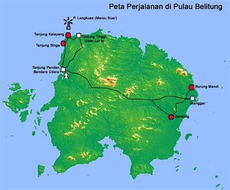 bangka belitung map fantasy island