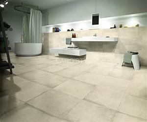 Carrelage Salle De Bain Sol : carrelage esprit terre cuite pour sol et mur de salle de ~ Dailycaller-alerts.com Idées de Décoration
