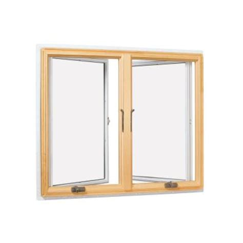 andersen       series casement wood window white cn lr  home depot