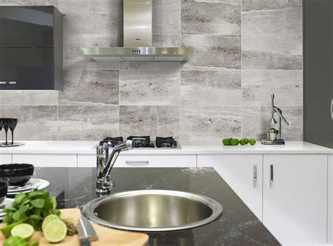big kitchen tiles create exquisite effects with kitchen wall tiles 1655