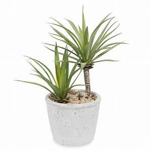 Künstliche Yucca im Topf H 24 cm