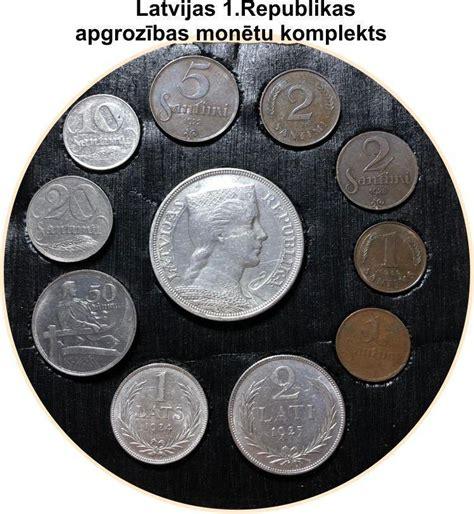 Latvijas oriģinālo sudraba monētu komplekts (1924-1932)