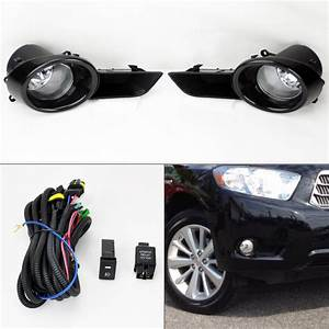 Front Bumper Fog Lights Kit Wiring Switch Pair Rh Lh For