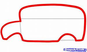 How to Draw a Bus for Kids, Step by Step, Cars For Kids ...