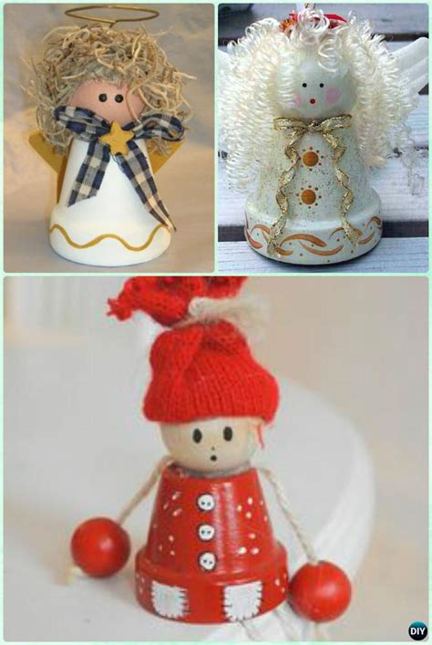 diy terra cotta clay pot christmas craft ideas holiday