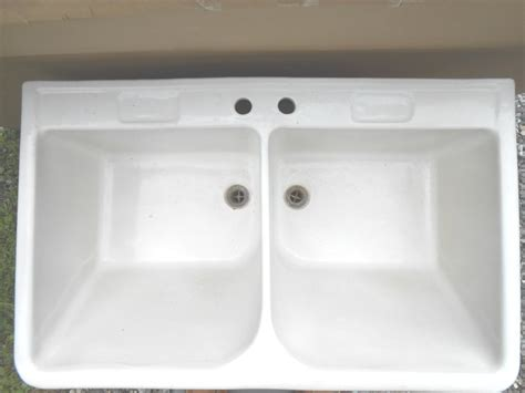 cast iron sinks for sale vintage double basin porcelain over cast iron farm house
