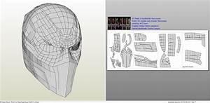 dc comics deathstroke mask foam pepakuraeu mask With deathstroke armor template
