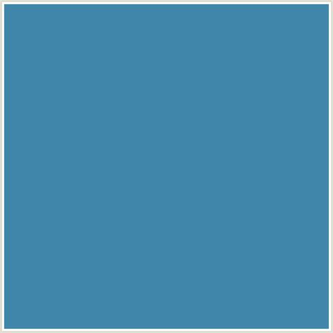 blue steel color 4086aa hex color rgb 64 134 170 blue steel blue