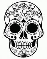 Coloring Pages Adult Skulls Skull Adults Printables Popular sketch template