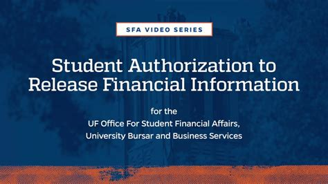 release of financial information form uf quot financial information release quot form youtube
